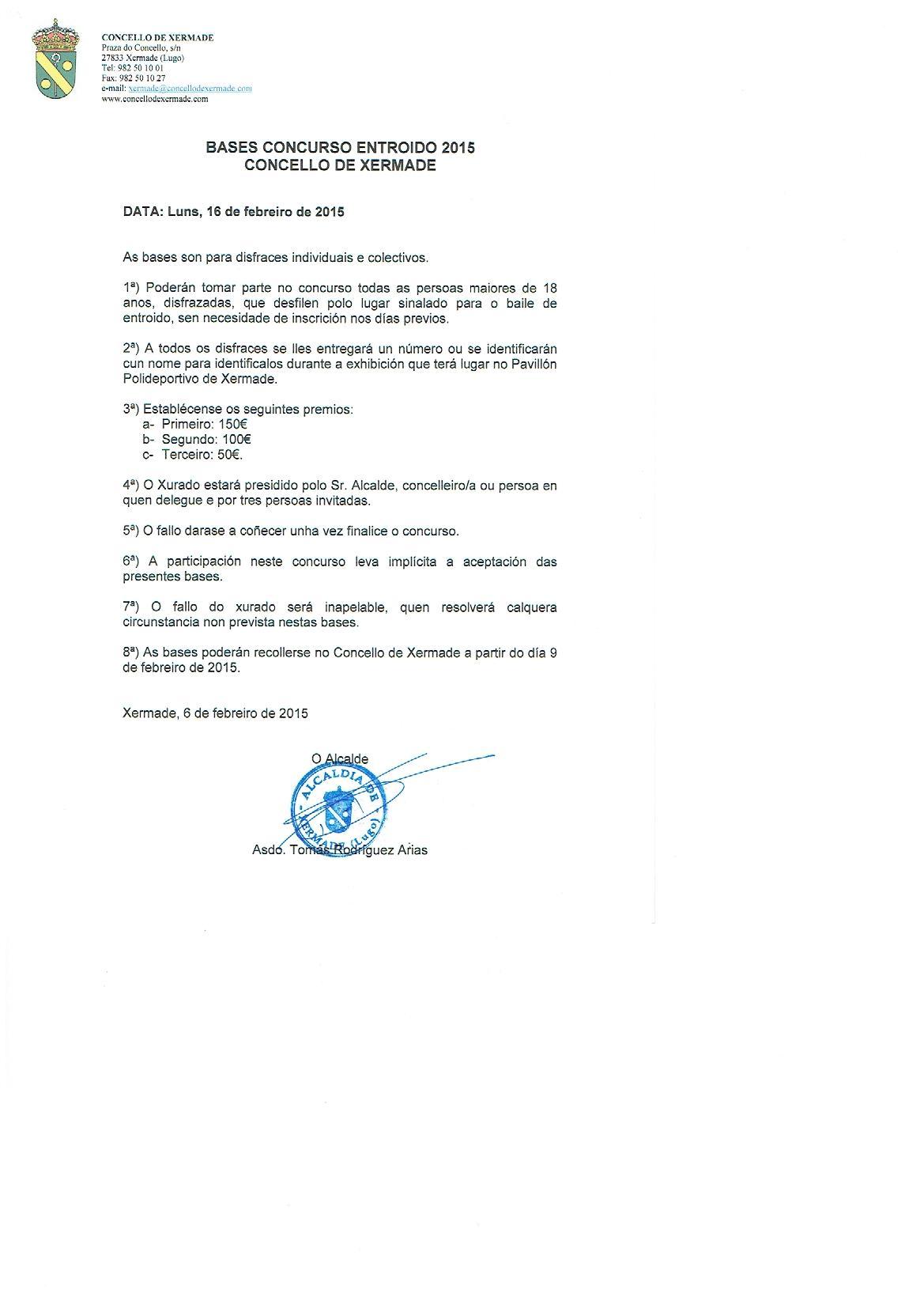 Bases Entroido 2015