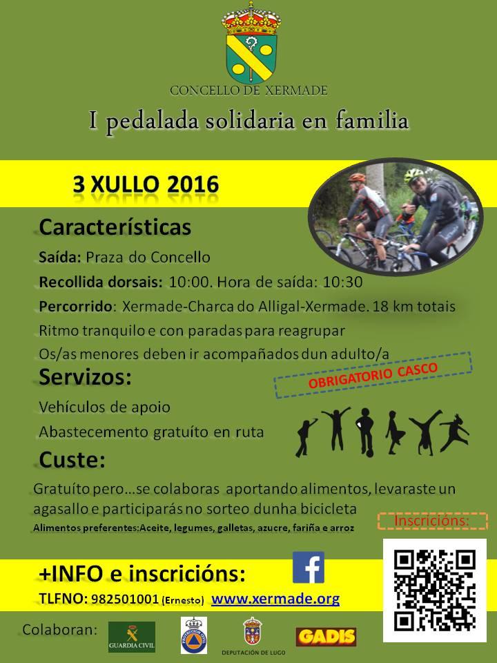 pedalada solidaria xermade