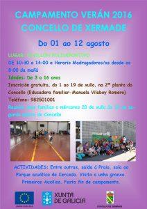 Cartel Campamento Infantil 2016